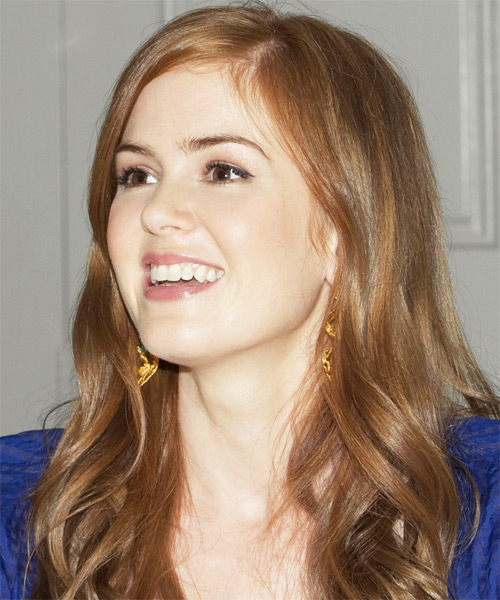 Isla Fisher Long Wavy Hairstyle - side view