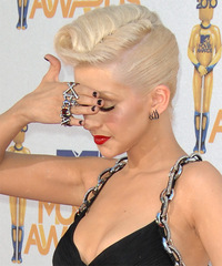 Christina Aguilera - Updo Medium Curly - side view