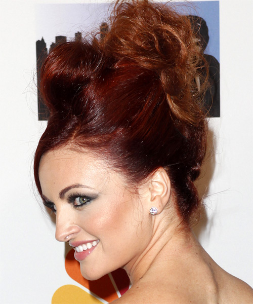 Maria Kanellis Formal Curly Updo Hairstyle - side view 1