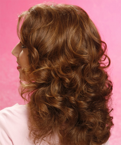 Long Curly Casual  - side view