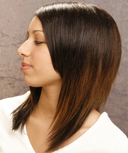 Long Straight Casual Hairstyle - side view 1