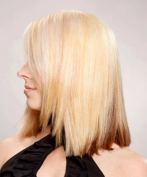 Medium Straight Formal Hairstyle - Light Blonde Hair Color - side view
