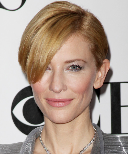 Cate Blanchett Short Straight Hairstyle - side view