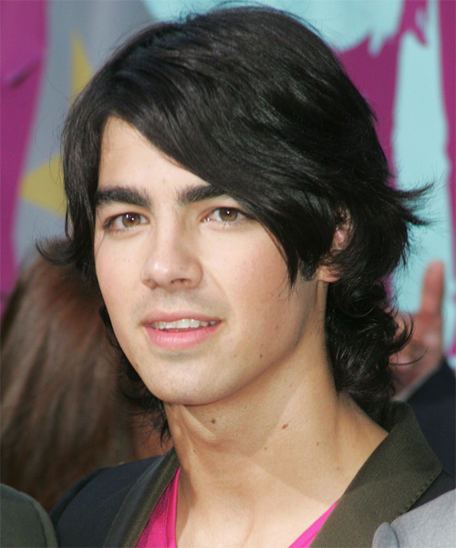 Joe Jonas Medium Wavy Hairstyle - side view