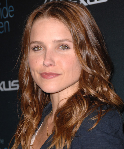 Sophia Bush Long Wavy Hairstyle - side view