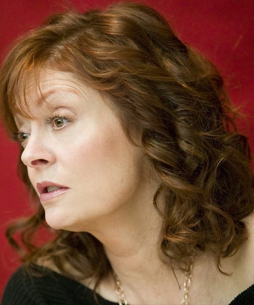 Susan Sarandon - Formal Medium Wavy Hairstyle - side view