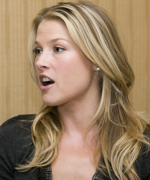 Ali Larter Long Straight Hairstyle - Medium Blonde - side view