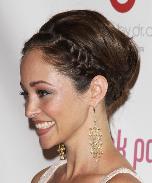 Autumn Reeser Formal Straight Updo Hairstyle - side view 1