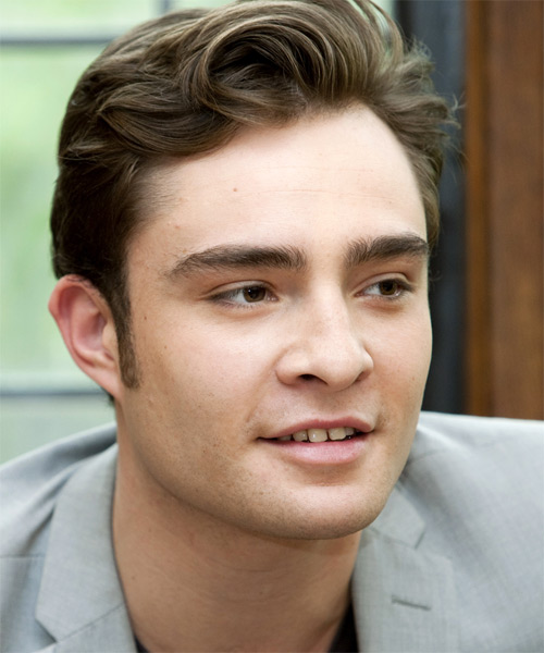 Ed Westwick Short Straight Hairstyle - side view 1
