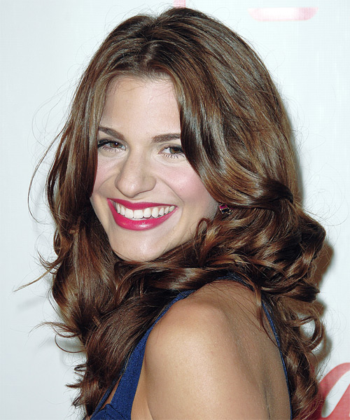Rachel McCord - Formal Long Wavy Hairstyle - side view