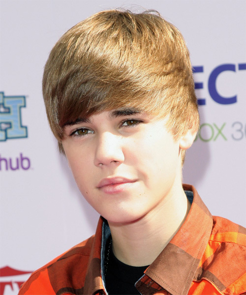 Justin Bieber Short Straight Hairstyle - Light Brunette - side view