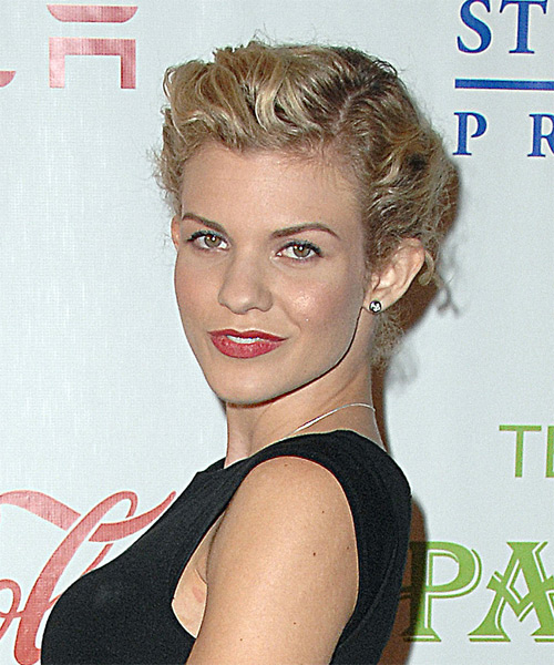 Angel McCord Curly Casual Updo Hairstyle - side view