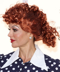 Lisa Rinna - Updo Long Curly - side view