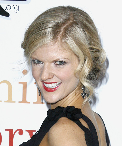 Arden Myrin Updo Long Curly Formal  - side view