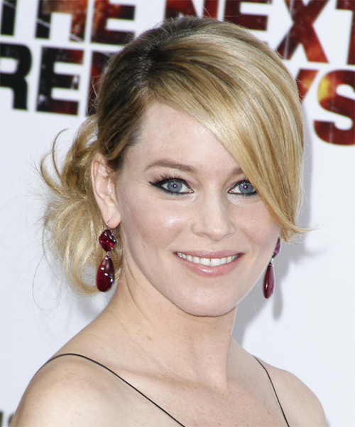 Elizabeth Banks Formal Straight Updo Hairstyle - side view 1