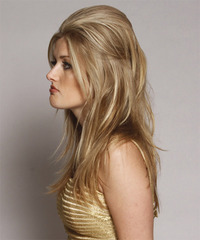 Casual Half Up Long Straight Hairstyle - click to view hairstyle information