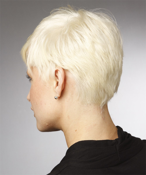 Short Straight Casual Hairstyle - Light Blonde - side view 1