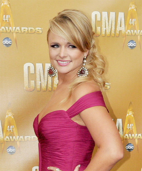 Miranda Lambert Updo Long Curly Formal - side view