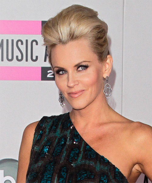 Jenny McCarthy Formal Straight Updo Hairstyle - side view 1