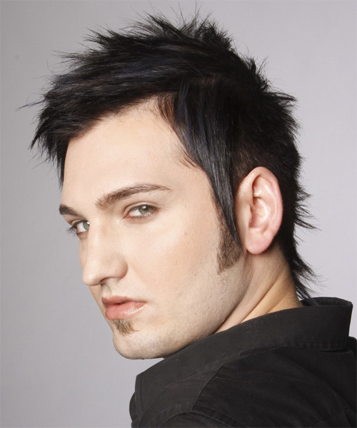 Short Straight Casual Hairstyle - Black (Ash) - side view 1