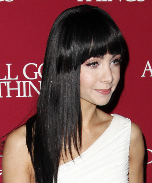 Ksenia Solo Long Straight Hairstyle - side view