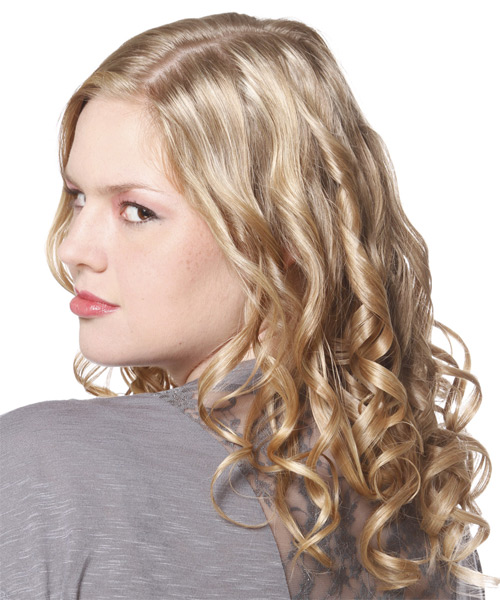 Long Curly Formal Hairstyle - side view 1