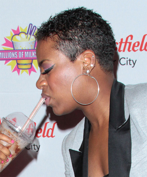 Fantasia Barrino Short Curly Hairstyle - side view 1