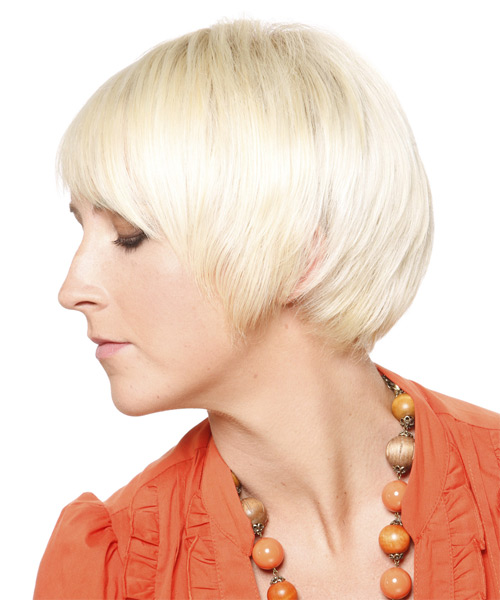Short Straight Formal Hairstyle - side view