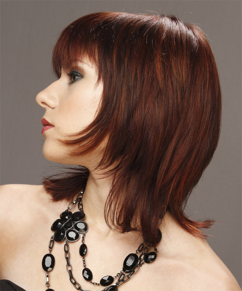 Medium Straight Formal Hairstyle - side view