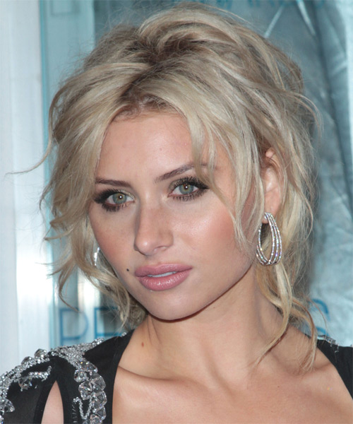 Alyson Michalka Curly Casual Updo Hairstyle - side view
