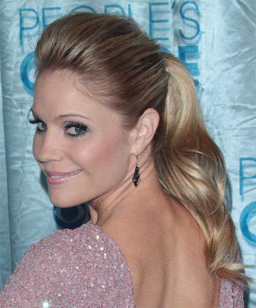 Virginia Williams - Casual Updo Long Straight Hairstyle - side view