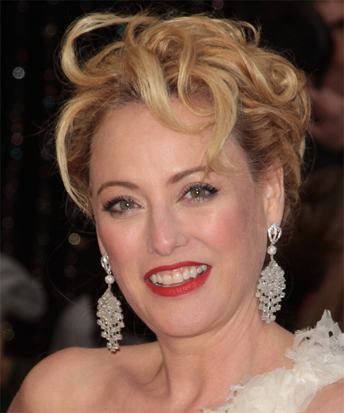 Virginia Madsen - Formal Updo Long Curly Hairstyle - side view