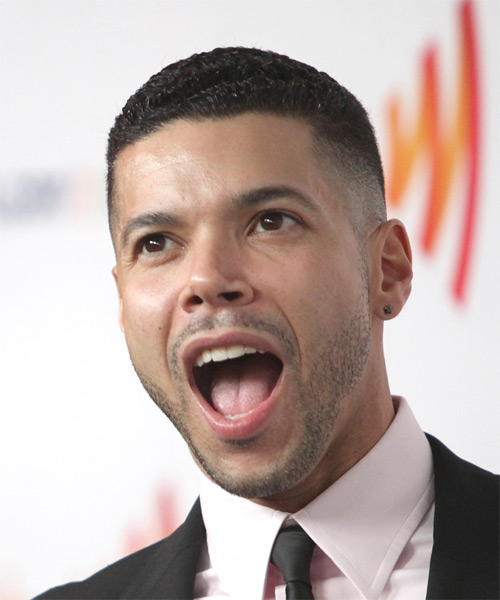Wilson Cruz Short Wavy Hairstyle - Black - side view 1