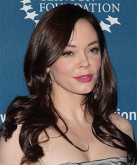 Rose McGowan Long Straight Formal  - side view