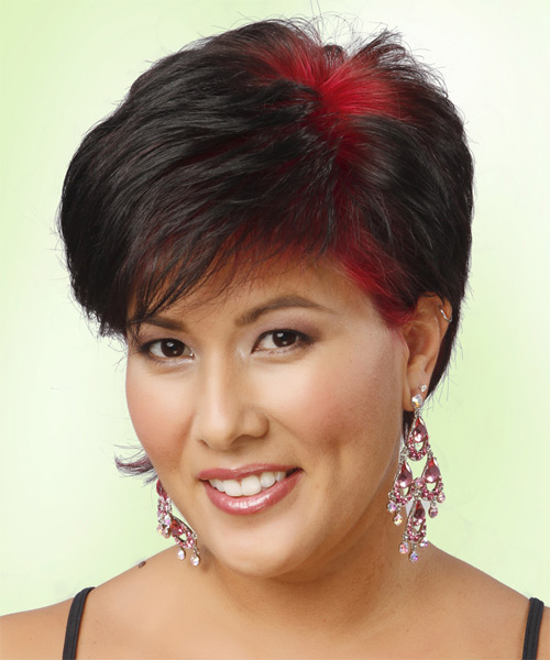 Short Straight Casual Hairstyle - Black (Bright) Hair Color - side view