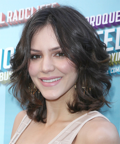 Katharine McPhee Medium Wavy Hairstyle - Medium Brunette - side view 1