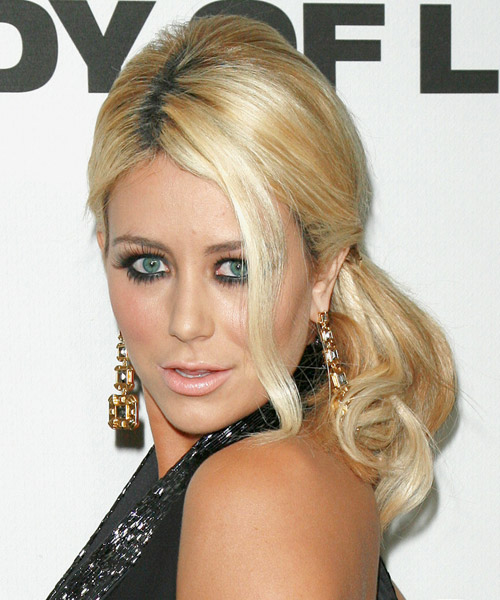 Aubrey O Day - Casual Updo Long Curly Hairstyle - side view