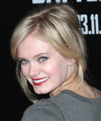 Sara Paxton - Updo Long Straight - side view