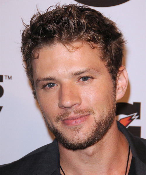 Ryan Phillippe Short Curly Casual Hairstyle - Dark Blonde Hair Color - side view