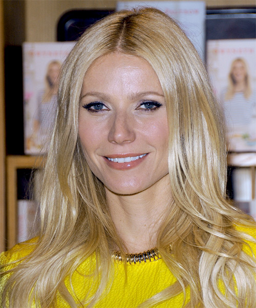Gwyneth Paltrow Long Straight Hairstyle - Light Blonde (Golden) - side view