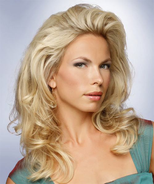 Medium Wavy Formal Hairstyle - Medium Blonde - side view 1