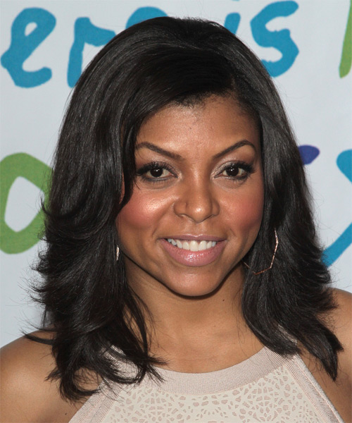 Taraji P. Henson Medium Straight Hairstyle - Black - side view