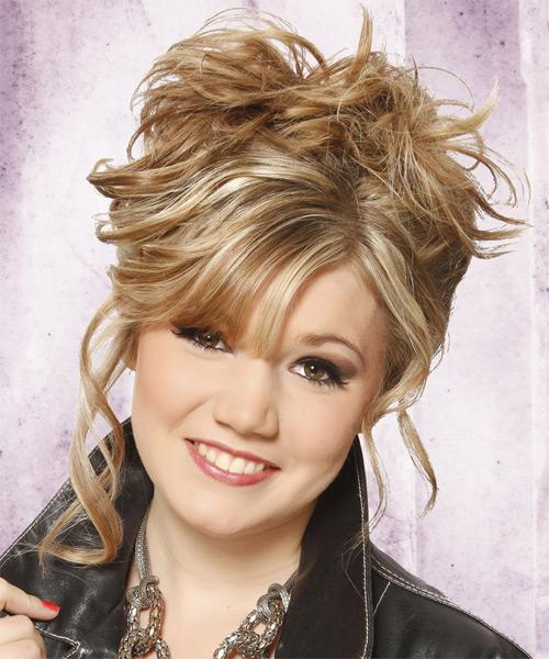 Miraculous Updo Curly Casual Hairstyle Medium Blonde Thehairstyler Com Short Hairstyles Gunalazisus
