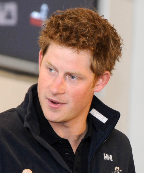 Prince Harry - Straight  Short Straight Hairstyle - Light Red (Ginger) - side view 1