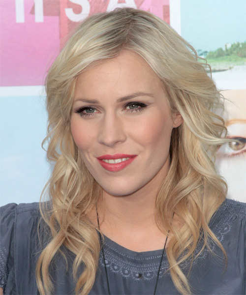 Natasha Bedingfield Long Wavy Hairstyle - Light Blonde (Platinum) - side view 1