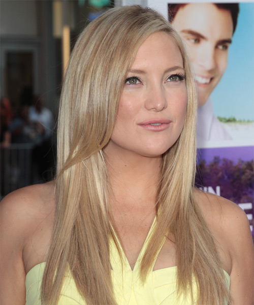 Kate Hudson Long Straight Hairstyle - Light Blonde (Champagne) - side view