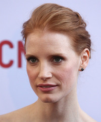Jessica Chastain Updo Long Straight Formal  - side view