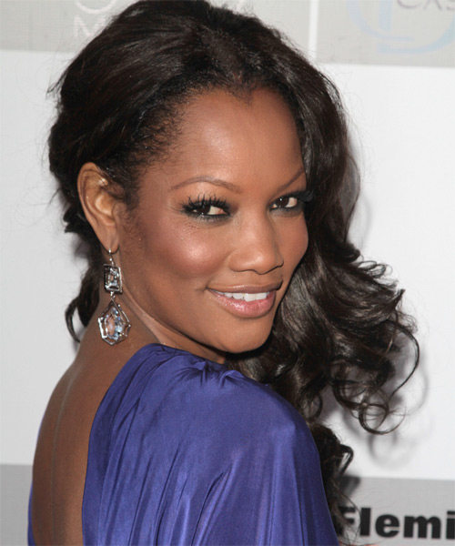 Garcelle Beauvais-Nilon Long Wavy Hairstyle - Black - side view