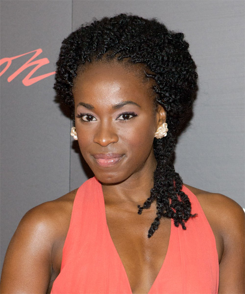 Kristolyn Lloyd Long Curly Braided Hairstyle - side view 1