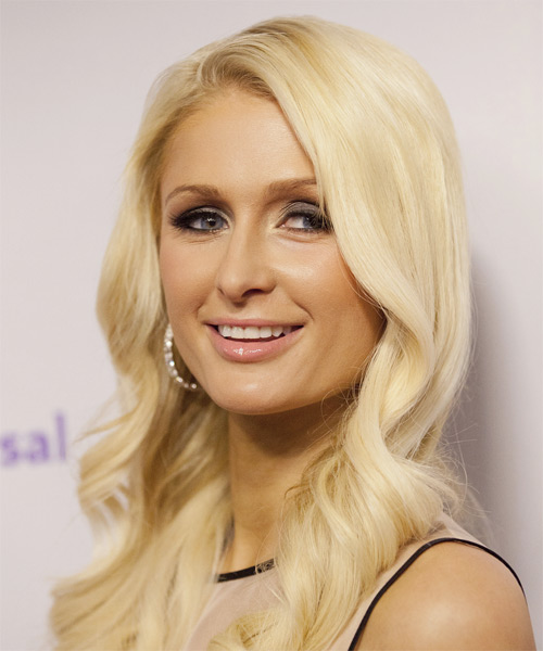 Paris Hilton Long Wavy Hairstyle - Light Blonde - side view
